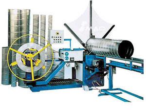 M quina formadora de ductos espirales sistemas de ductos for Maquinas de aire acondicionado baratas